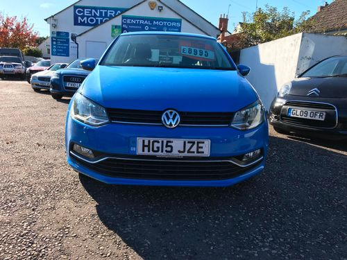 VW Polo 2015 Blue Front